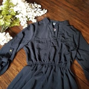 NWT Black Collared Long Sleeve Dress (S) by Rue 21